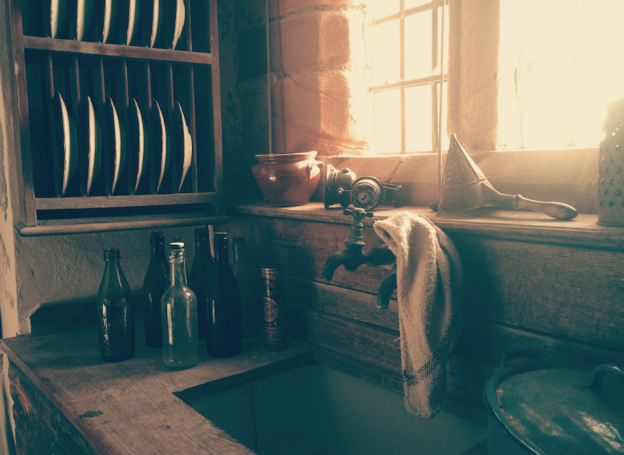 photo of vintage looking kitchen