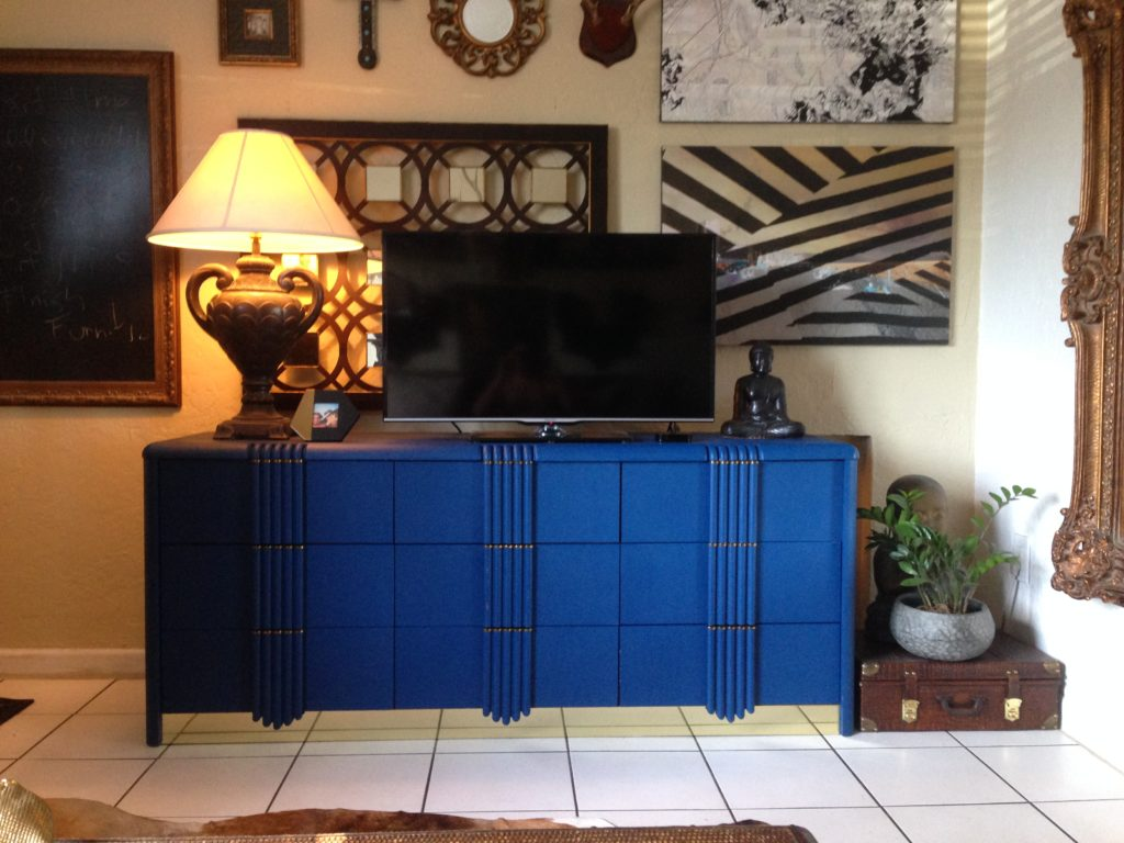 Egyptian Blue Art Deco Dresser