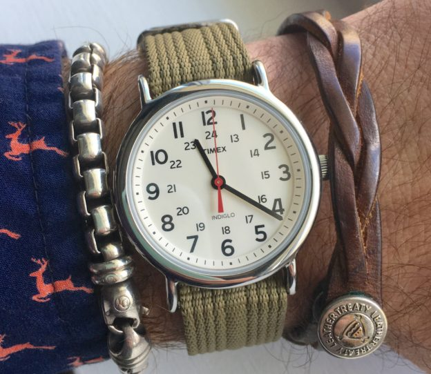 Timex Weekender with Olive Nylon Strap